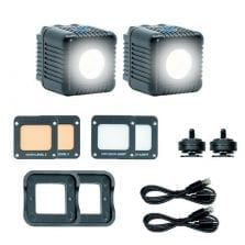 Lume Cube 2.0 Dobbel Pakke Sort 2stk LED Lys v/2.0
