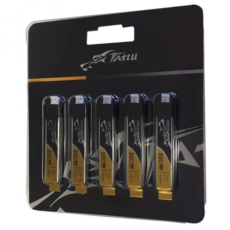 1s 220mAh - 45C - Gens Ace Tattu PHR 2.0 5-Pack