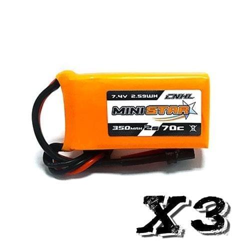 2s 350mAh - 70C - CNHL MiniStar XT30 3stk