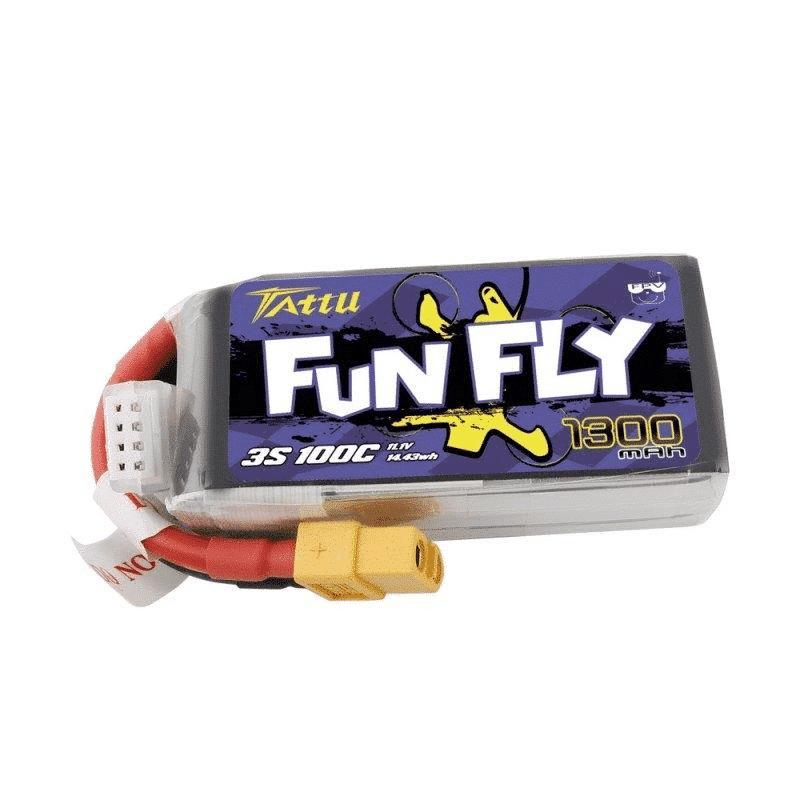 3s 1300mah -100C Tattu - Gens Ace Funfly XT60