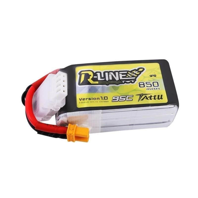 3s 850mAh - 95C - Gens Ace R-Line Tattu XT30