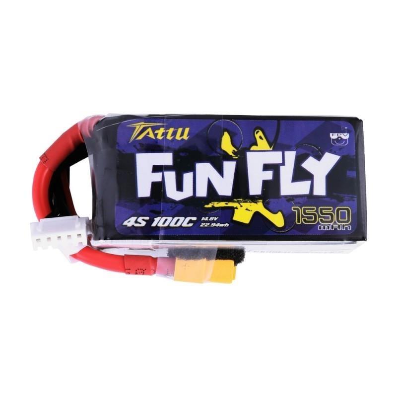 4s 1550mAh -100C - Gens Ace FunFly XT60