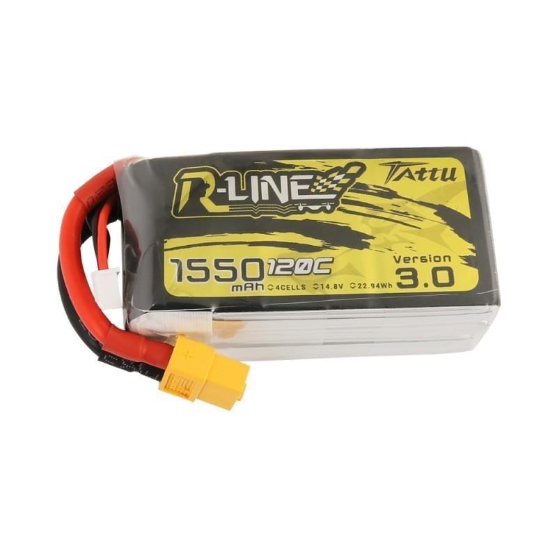 4s 1550mAh -120C - Gens Ace Tattu R-line 3.0