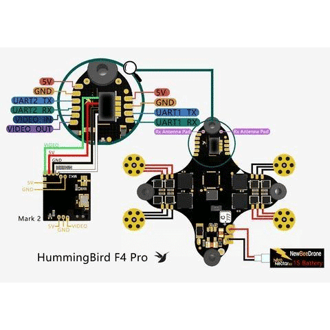 NewBeeDrone Hummingboard F4 Pro FC/ESC/RX
