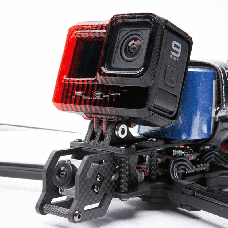 iFlight Adjustable GoPro Mount Hero 9 - Svart/Rød